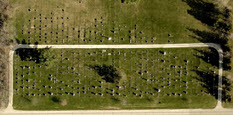 Aerial view of St. Mary's Cemetery, Ackley, Iowa - 2016
